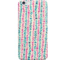 Hand Painted Herringbone Pattern in Pink & Turquoise  iPhone Case/Skin