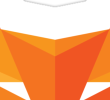Fox Head - Abstract Geometric Illustration - Sticker Sticker