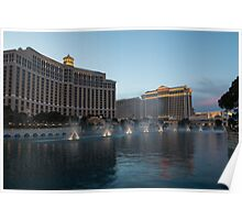 Early Evening Water Dance - Bellagio, Las Vegas Poster