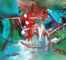 Turquoise and Red by Maria Catalina Wiley