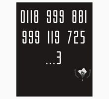 Police Number from the IT Crowd Kids Clothes