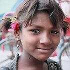 Young Girl Charminar, Hyderabad by Andrew  Makowiecki