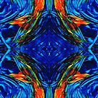 Colorful Blue Abstract - Peace With The Past by Sharon Cummings by Sharon Cummings