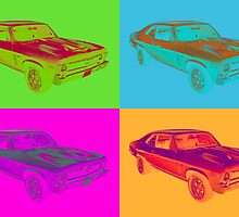 1969 Chevrolet Nova Yenko 427 Muscle Car Pop Art by KWJphotoart