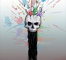 Exploding Skull by Christopher Troyer