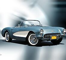 1956 Chevrolet Corvette Convertible by DaveKoontz