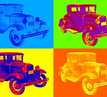 Ford Model A Roadster Pop Art by KWJphotoart