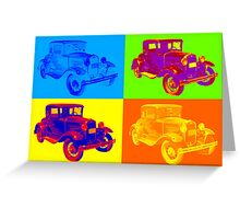 Ford Model A Roadster Pop Art Greeting Card