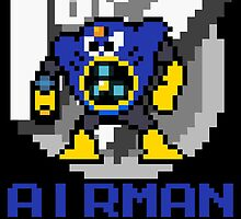 Airman with text (Blue) by Funkymunkey