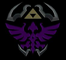 Hylian Shield: Dark by miss0aer