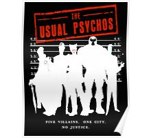 The Usual Psychos (Variant) Poster