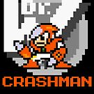 Crashman with text (Orange) by Funkymunkey