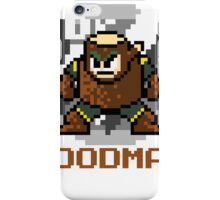 Woodman with text (Brown) iPhone Case/Skin