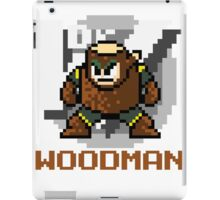 Woodman with text (Brown) iPad Case/Skin