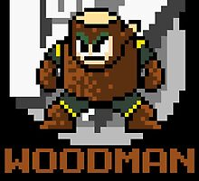 Woodman with text (Brown) by Funkymunkey