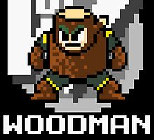 Woodman with text (White) by Funkymunkey