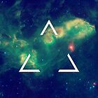 Hipster Triangle In Space by hipsterapparel