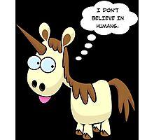 Unicorn Doesn't Believe Photographic Print