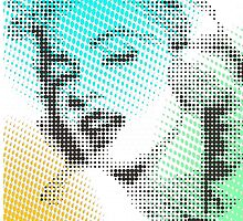 MARILYN MONROE ON GREEN DOTS. by rolfing