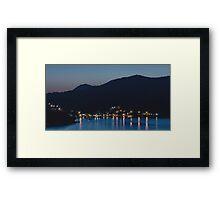 Dubrovnik Night Coast Framed Print