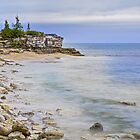 Cave Point Wisconsin Coastline by Kenneth Keifer