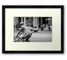 In Melbourne, We Ride! Framed Print