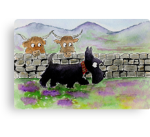 Scottie Dog 'Roaming in the Gloaming' Canvas Print