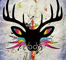 Flying Stag by Sybille Sterk