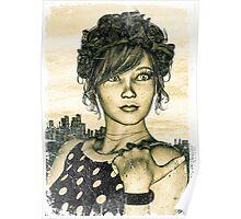 Retro Girl Poster