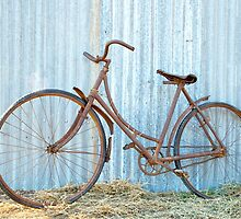 Ladies Antique bicycle.... was hanging in a barn for forty years. by jenkeating1