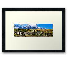Autumn Corral Framed Print