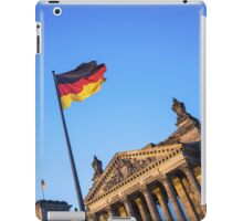 Schland Flag in front of the Reichstag building iPad Case/Skin
