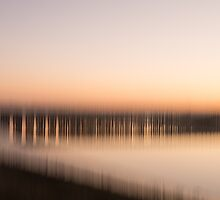 Toll bridge blur - pale evening by Liz Outhwaite