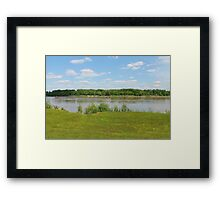 On The Riverbank Framed Print