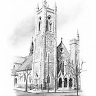 St Andrews Episcopal church in Richmond drawing by Mike Theuer