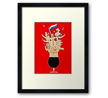 Russian Imperial Stout Beer Foam Framed Print