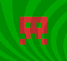 Space Invader Retro Watermelon by ahmadsarvmeily
