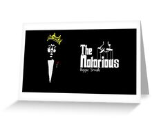Notorious Biggie Godfather  Greeting Card