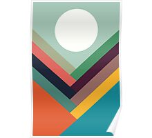 Geometric Rows of Valleys Poster