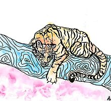Watercolor Tiger by KaitlynLister