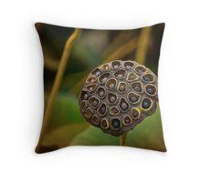 Lotus seedpod double faces Throw Pillow