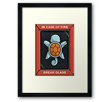 In Case of a Fire Framed Print