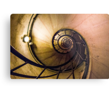 Spiral Staircase in the Arc de Triomphe Metal Print