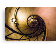 Spiral Staircase in the Arc de Triomphe Canvas Print