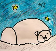 Polar Bear Starry Night by wearetough