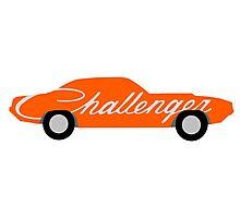 Stylized Dodge Challenger Photographic Print