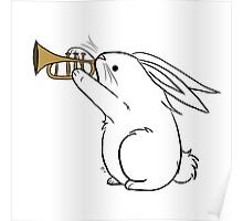 Horn Bunny Poster