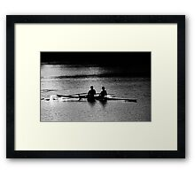 """""""The Scullers"""" Framed Print"""