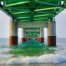 Mackinac Bridge by Michael  Herrfurth