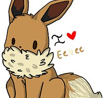 I Love Eevee by CaniffBaee